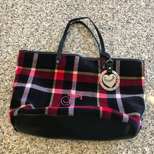 Juicy Couture Black and Red Plaid purse